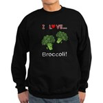 I Love Broccoli Sweatshirt (dark)