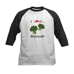 I Love Broccoli Kids Baseball Jersey