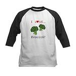 I Love Broccoli Kids Baseball Jersey