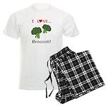 I Love Broccoli Men's Light Pajamas