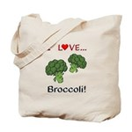 I Love Broccoli Tote Bag