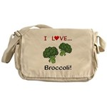 I Love Broccoli Messenger Bag
