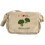 I Love Broccoli Messenger Bag