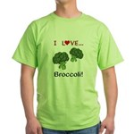 I Love Broccoli Green T-Shirt