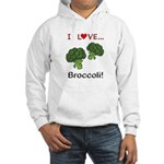 I Love Broccoli Hooded Sweatshirt
