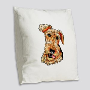 Just The Airdale Burlap Throw Pillow