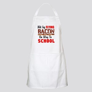 Hit By Flying Bacon on way to School Apron