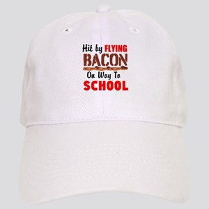 Hit By Flying Bacon on way to School Baseball Cap