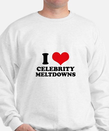 I Love (Heart) Celebrity Melt Sweatshirt