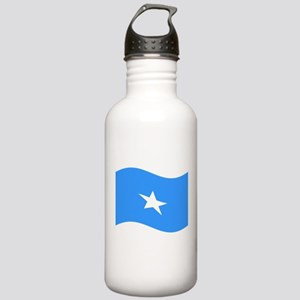 Waving Somalia Flag Water Bottle
