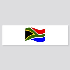 Waving South Africa Flag Bumper Sticker
