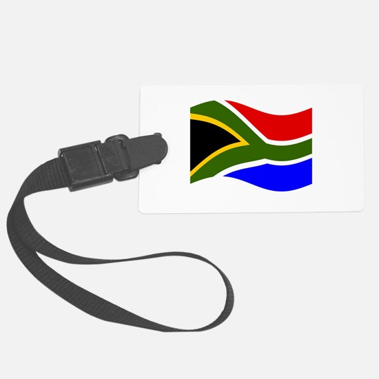 Waving South Africa Flag Luggage Tag