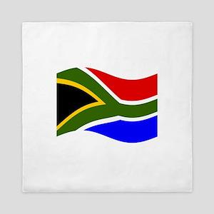 Waving South Africa Flag Queen Duvet