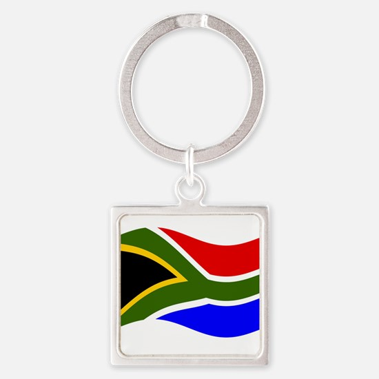 Waving South Africa Flag Keychains