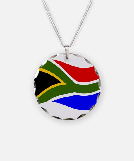 Waving South Africa Flag Necklace