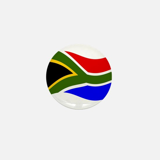 Waving South Africa Flag Mini Button