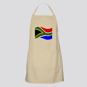 Waving South Africa Flag Apron