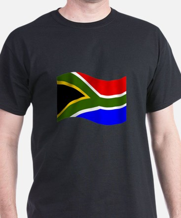 Waving South Africa Flag T-Shirt