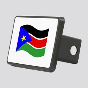 Waving South Sudan Flag Hitch Cover