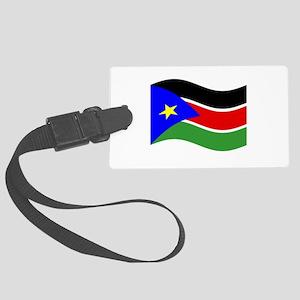 Waving South Sudan Flag Luggage Tag