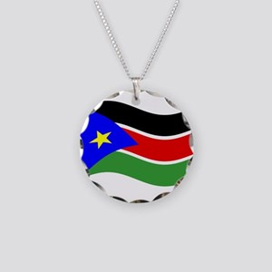 Waving South Sudan Flag Necklace