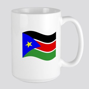 Waving South Sudan Flag Mugs