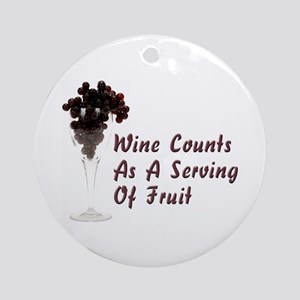 Wine Diet Ornament (Round)