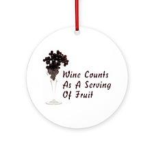 Wine Diet Ornament (Round)