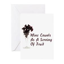 Wine Diet Greeting Cards (Pk of 10)