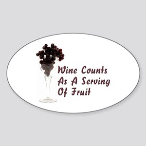 Wine Diet Oval Sticker
