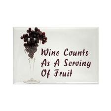 Wine Diet Rectangle Magnet
