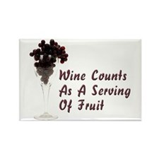 Wine Diet Rectangle Magnet