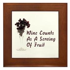 Wine Diet Framed Tile