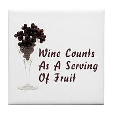 Wine Diet Tile Coaster