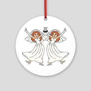 Lesbian Wedding Ornament (Round)