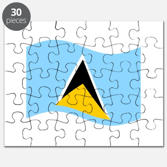 Waving St. Lucia Flag Puzzle