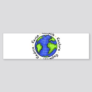 earth_day_reuse_recycle Bumper Sticker