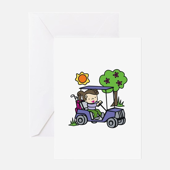 Golf Cart Driver Greeting Cards