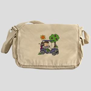 Golf Cart Driver Messenger Bag