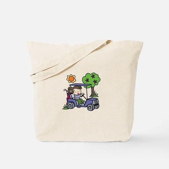 Golf Cart Driver Tote Bag