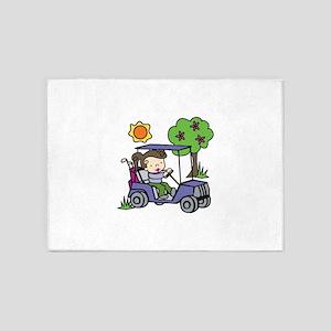Golf Cart Driver 5'x7'Area Rug