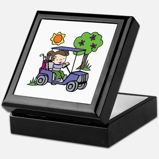 Golf Cart Driver Keepsake Box
