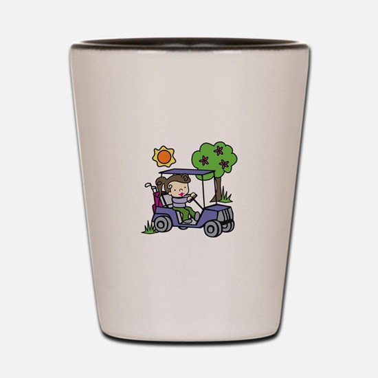 Golf Cart Driver Shot Glass