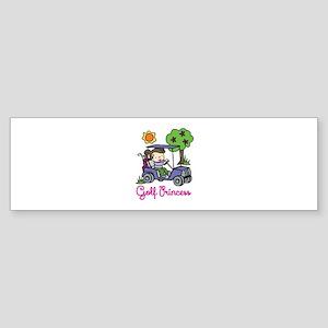 Golf Princess Bumper Sticker