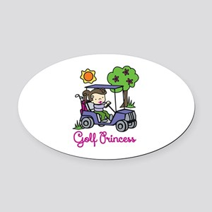 Golf Princess Oval Car Magnet