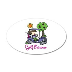 Golf Princess Wall Decal