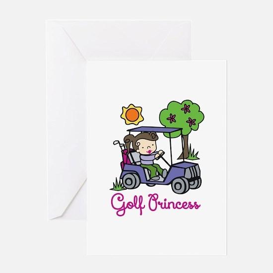 Golf Princess Greeting Cards