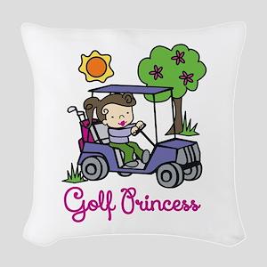 Golf Princess Woven Throw Pillow