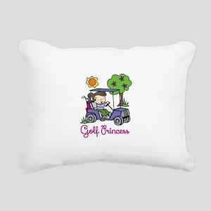 Golf Princess Rectangular Canvas Pillow