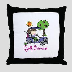 Golf Princess Throw Pillow